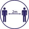 2m distance