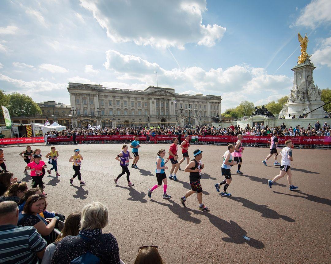Runner through London